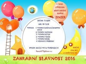 Pozvánka na Zahradní slavnost 2016